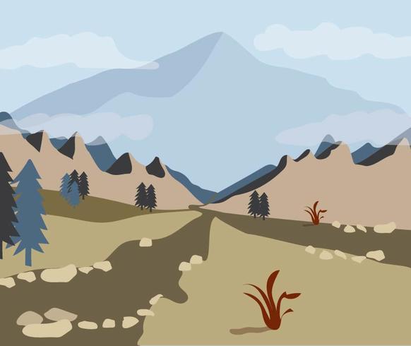 View Through the Mountain Valley.