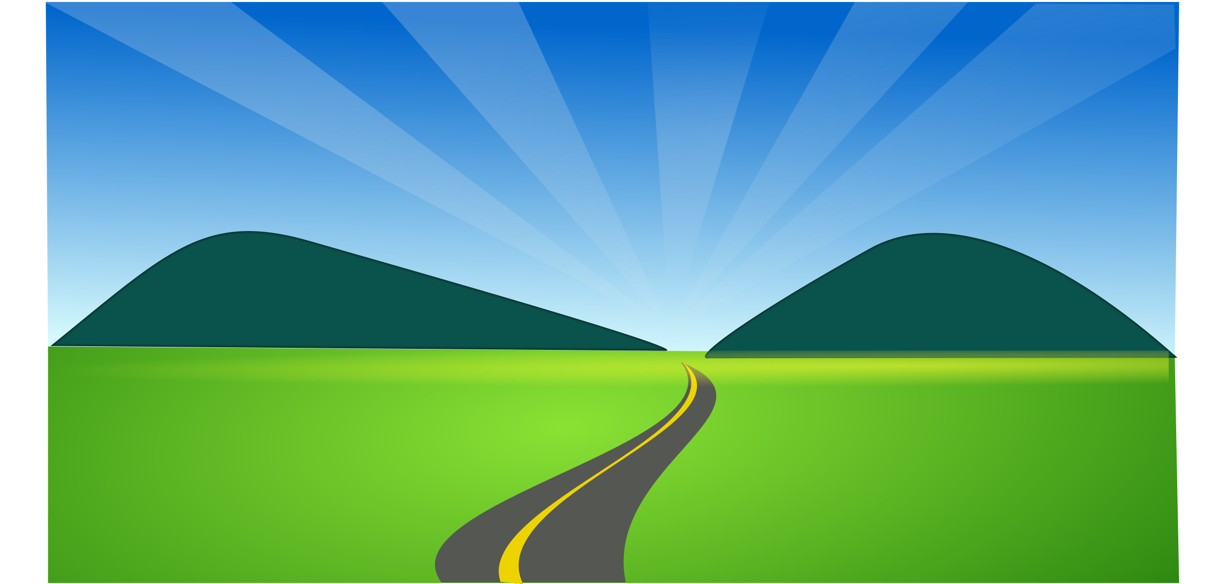 Mountain Road Clipart.
