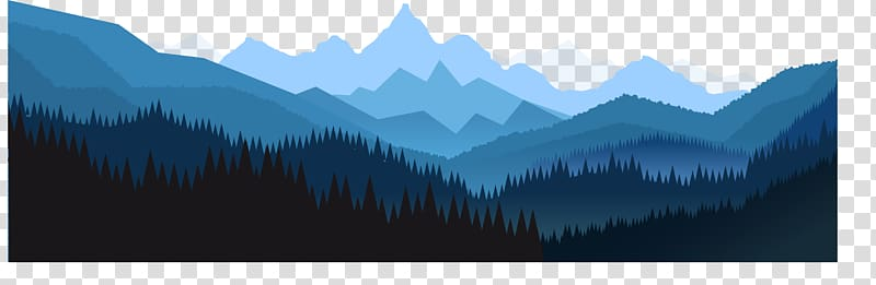Mountains and forest , Euclidean Angle, Forest background.