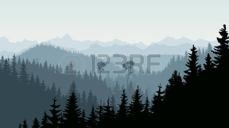 1,371 Mountains Mist Stock Vector Illustration And Royalty Free.