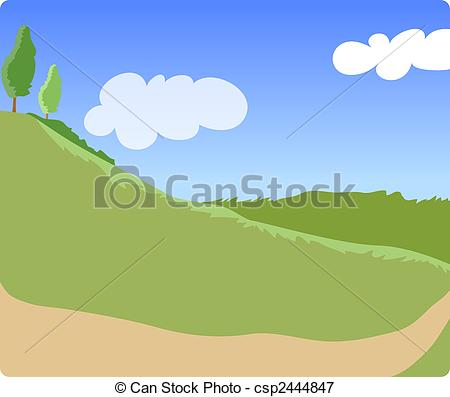 Stock Illustrations of countryside trail.