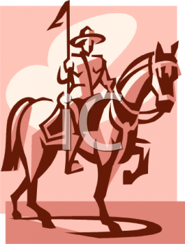 Royalty Free Clip Art Image: Mounted Police Officer.