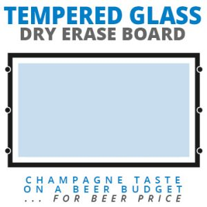 Tempered Glass Wall Mount Dry Erase Boards.