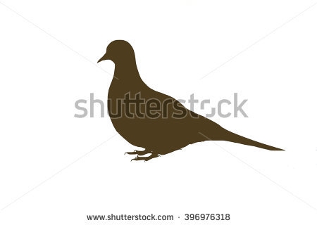 Dove Silhouette Stock Images, Royalty.