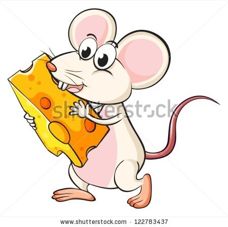 Mouse Eating Cheese Stock Images, Royalty.
