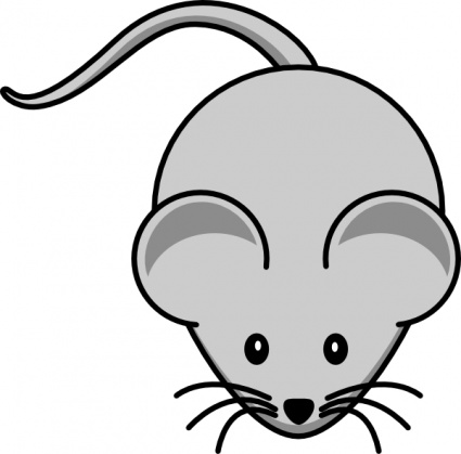 Gray Mouse Animal Clipart Graphic.