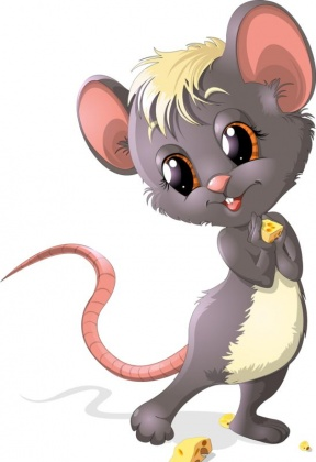 Mouse Biting On A Rope Clipart.