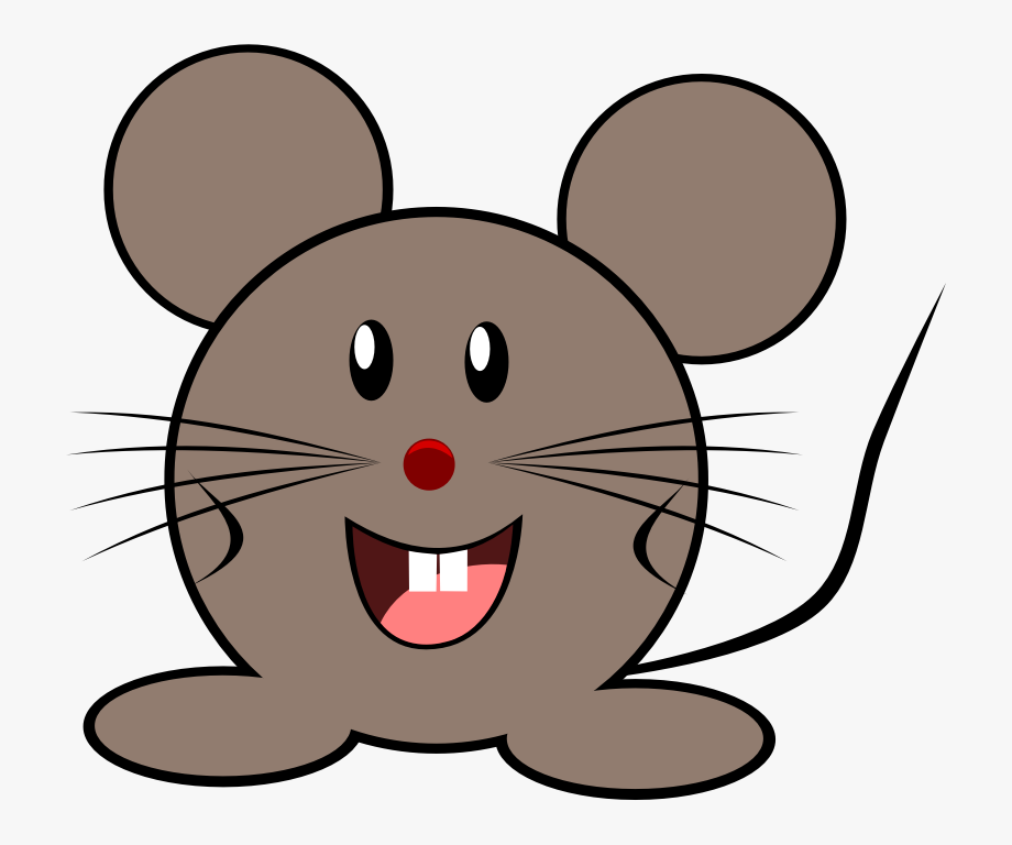 Smiling Rat Or Mouse Vector Clip Art.