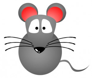 Mouse Clip Art In Black Silhouette.