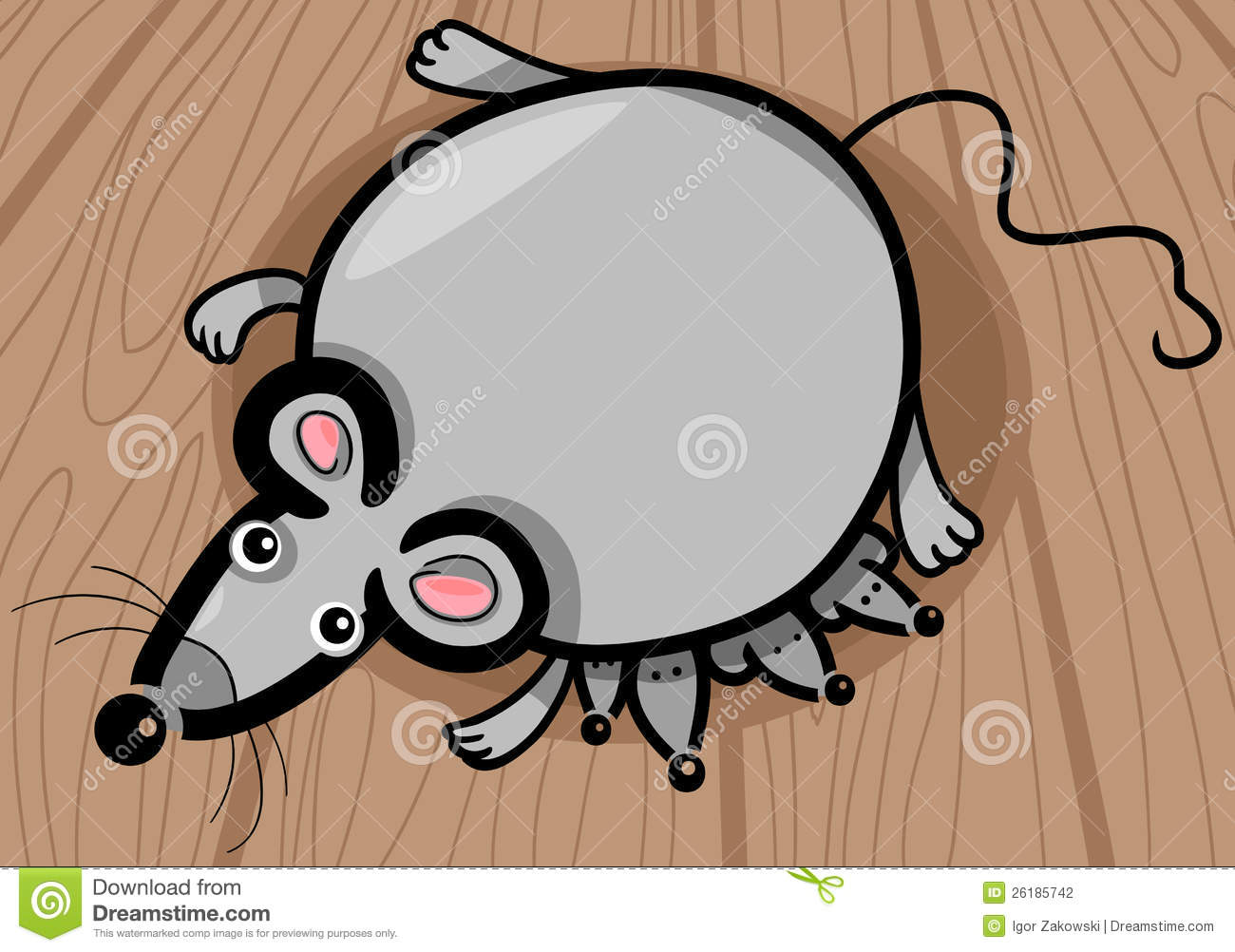 Mouse Mother With Babies Cartoon Stock Photography.