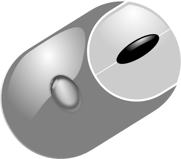 Computer Mouse clip art Free vector in Open office drawing svg.