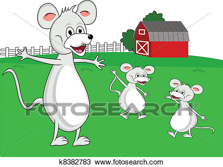 Mouse family cartoon Clipart.
