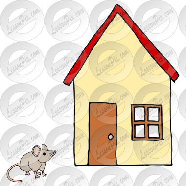 Mouse House Picture for Classroom / Therapy Use.