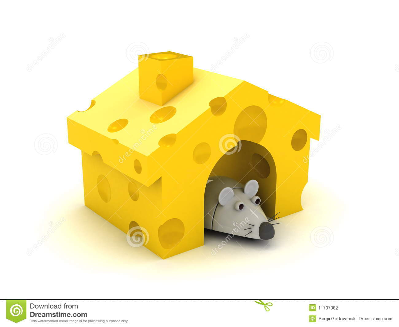Mouse In The House Clipart.