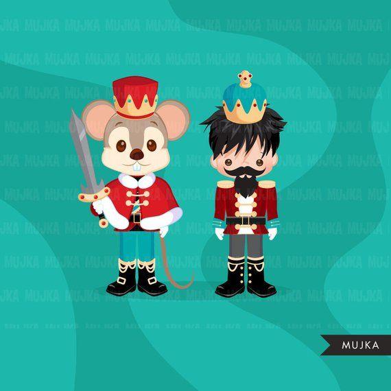 Christmas clipart, Nutcracker ballet characters, Mouse King.