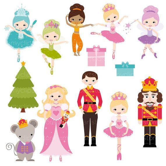 Nutcracker Suite, Ballerina, Fairy Princess Clipart, Mouse.