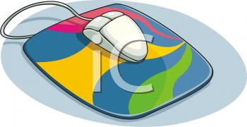 Computer Clip Art Mouse Pad.