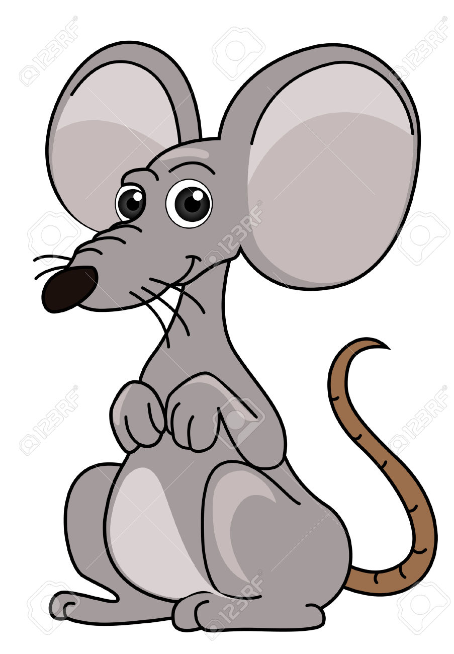 Mouse Illustration With Clipping Path Royalty Free Cliparts.