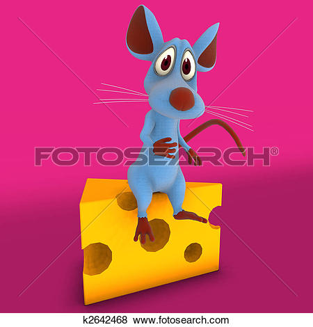 Stock Illustration of A very cute cartoon mouse made out of.