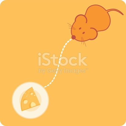 Mouse Path stock vector art 165043219.