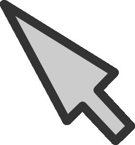 Mouse arrow clipart.