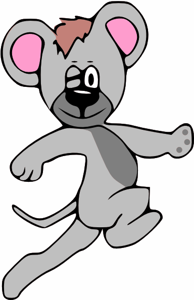 Cartoon Mouse Running PNG, SVG Clip art for Web.