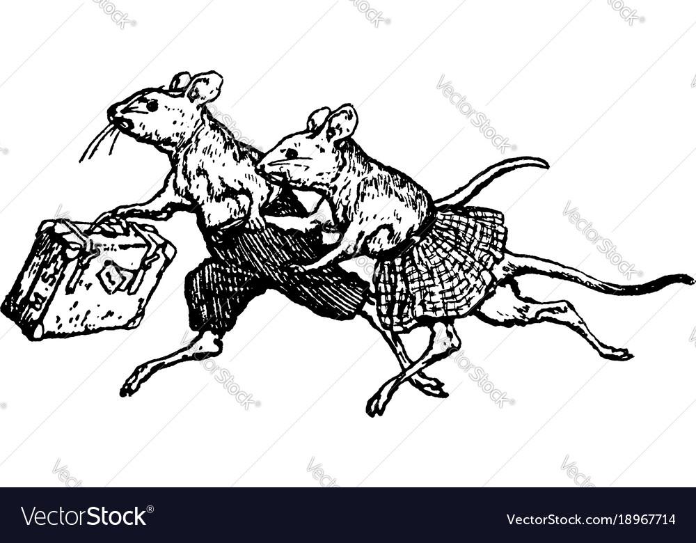 Mice running vintage.
