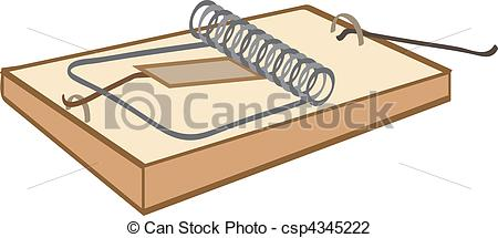 Snap Mouse in Trap Clip Art.