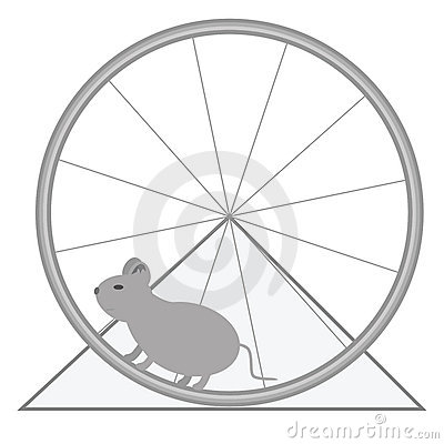 Mouse And Wheel Royalty Free Stock Photography.