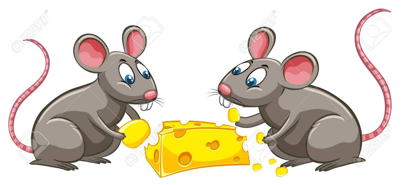 Clipart Mouse Eating Cheese.