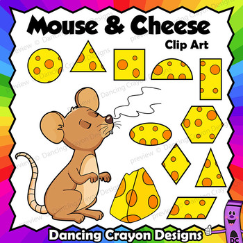 Clip Art Mouse and Cheese.