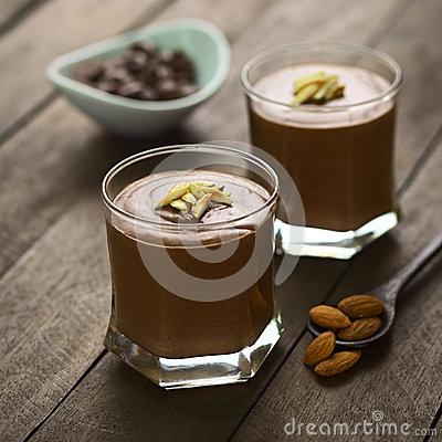 Mousse Au Chocolat Ingredients Royalty Free Stock Images.