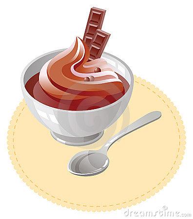 Clipart mousse chocolat.
