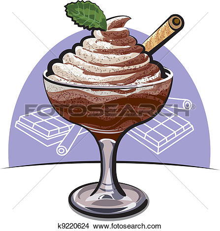Clipart of chocolate mousse k9220624.