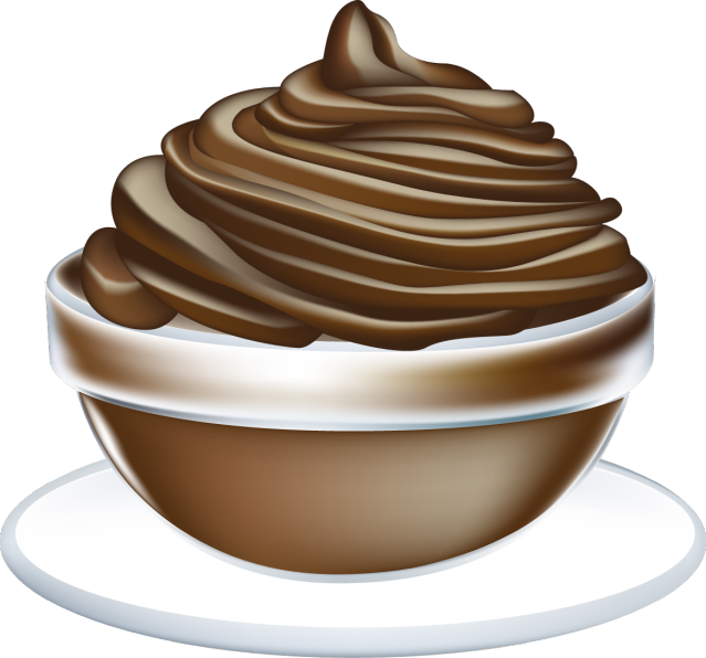 Chocolate mousse clipart.