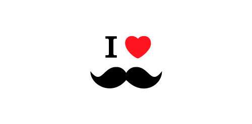 I Love Moustache « Logo Faves.