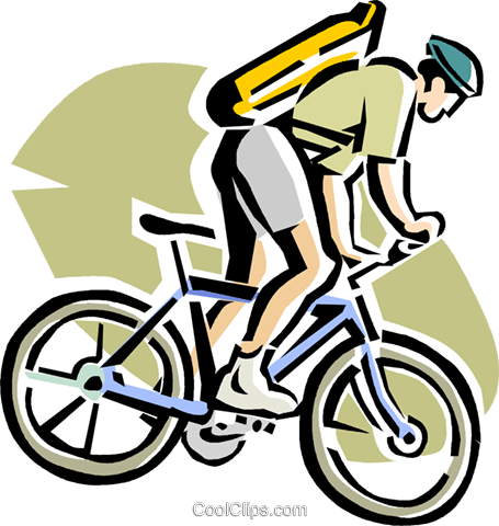 man on a mountain bike Royalty Free Vector Clip Art illustration.