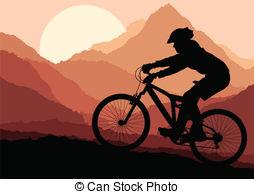Mountain biking Illustrations and Clip Art. 6,219 Mountain biking.