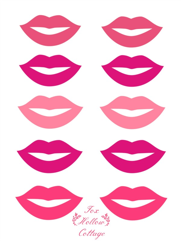 Mustache And Lips Printable Cut Out Sheet.