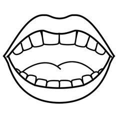Cartoon Mouth Clip Art Free.