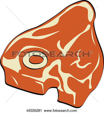 Clipart of Steak, Meat or Butcher's T.