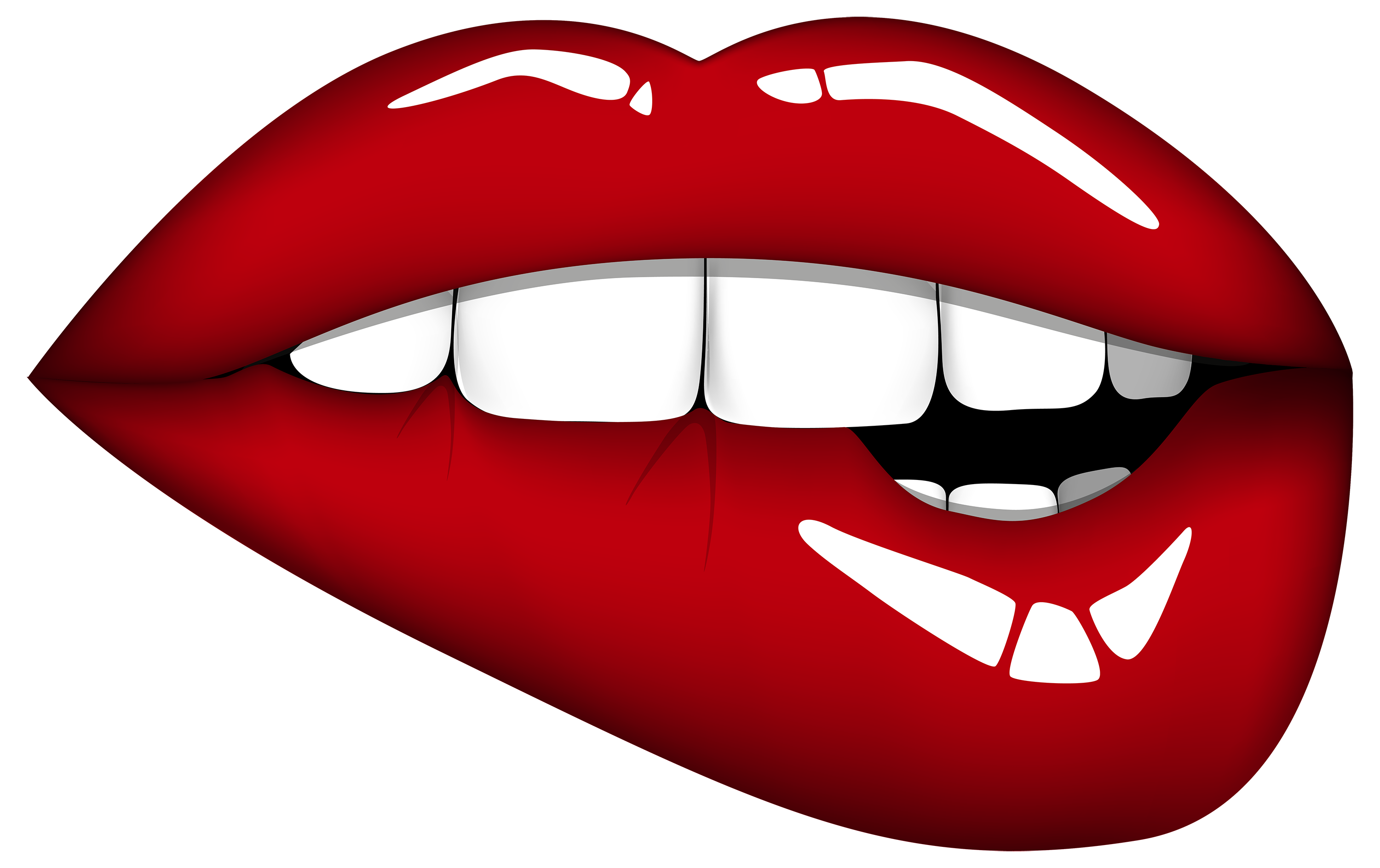 Red Mouth PNG Clipart Image.