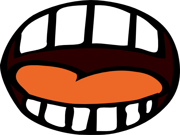 Cartoon Mouth Open.