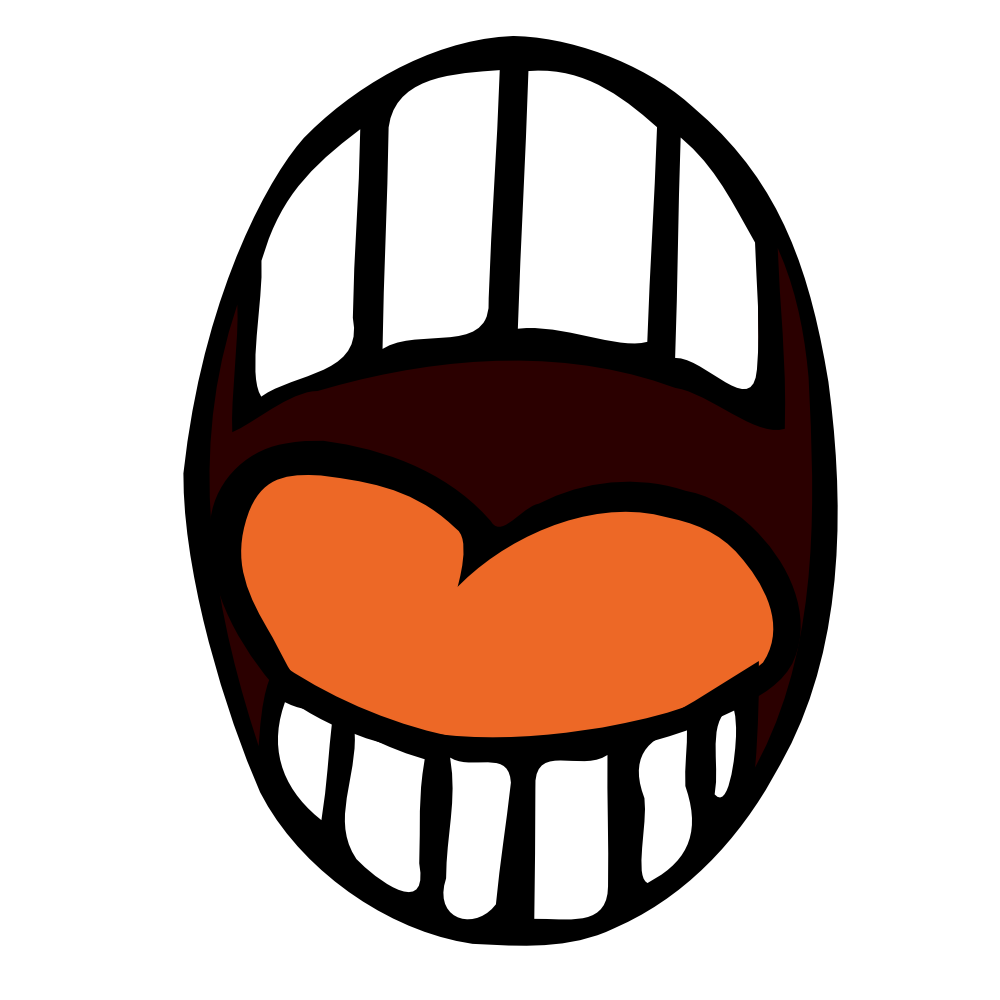 Man with mouth open clipart.