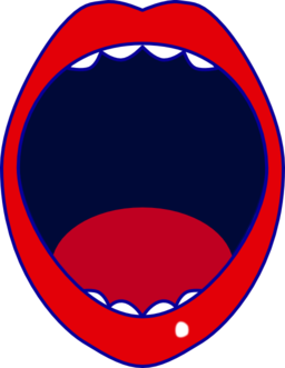 Mouth open clipart.