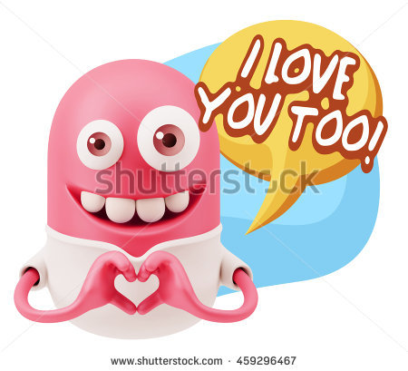 I Love Too You Stock Images, Royalty.
