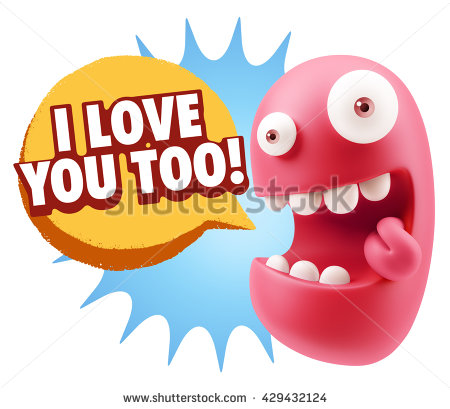 I Love You Too Stock Images, Royalty.