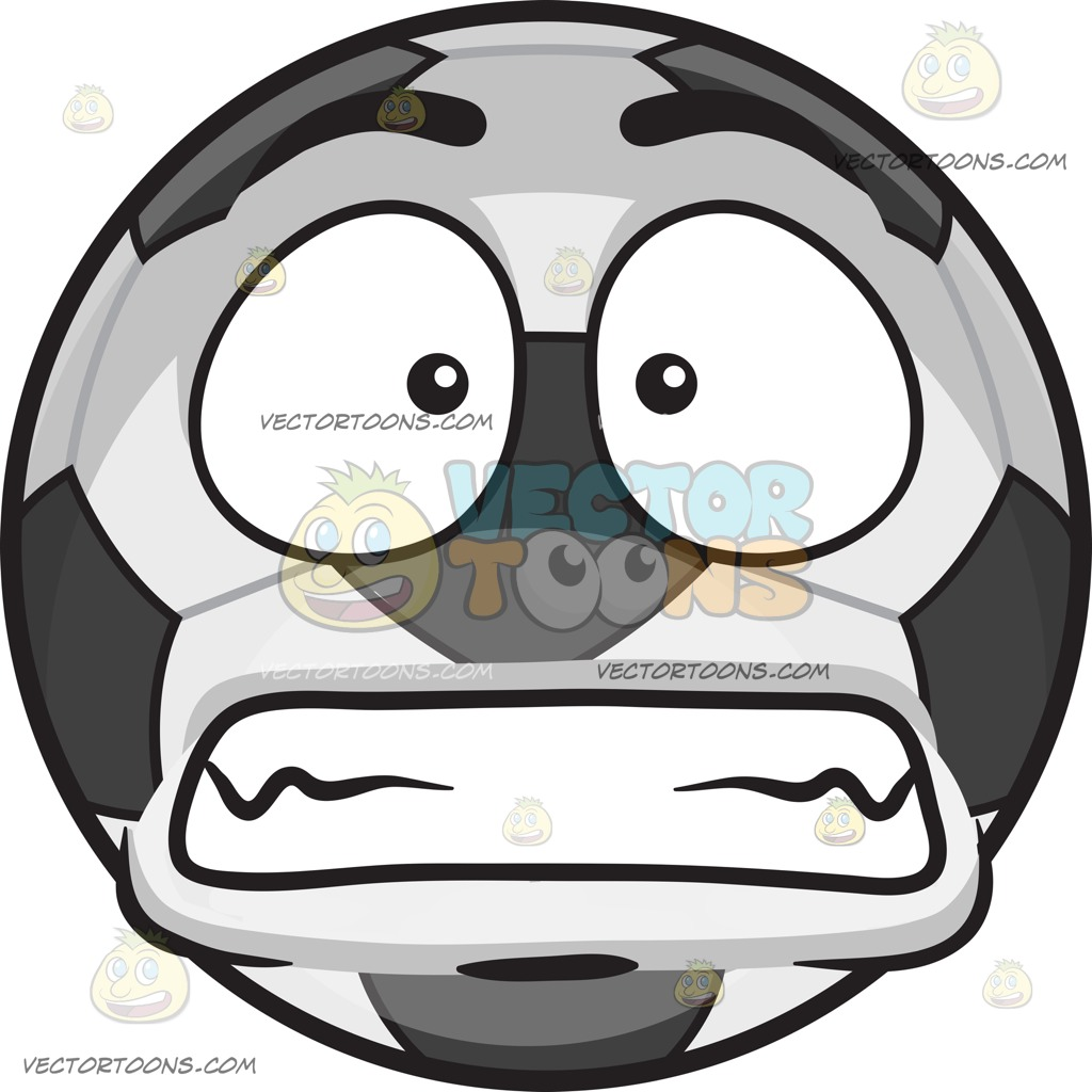 A Scared Soccer Ball.