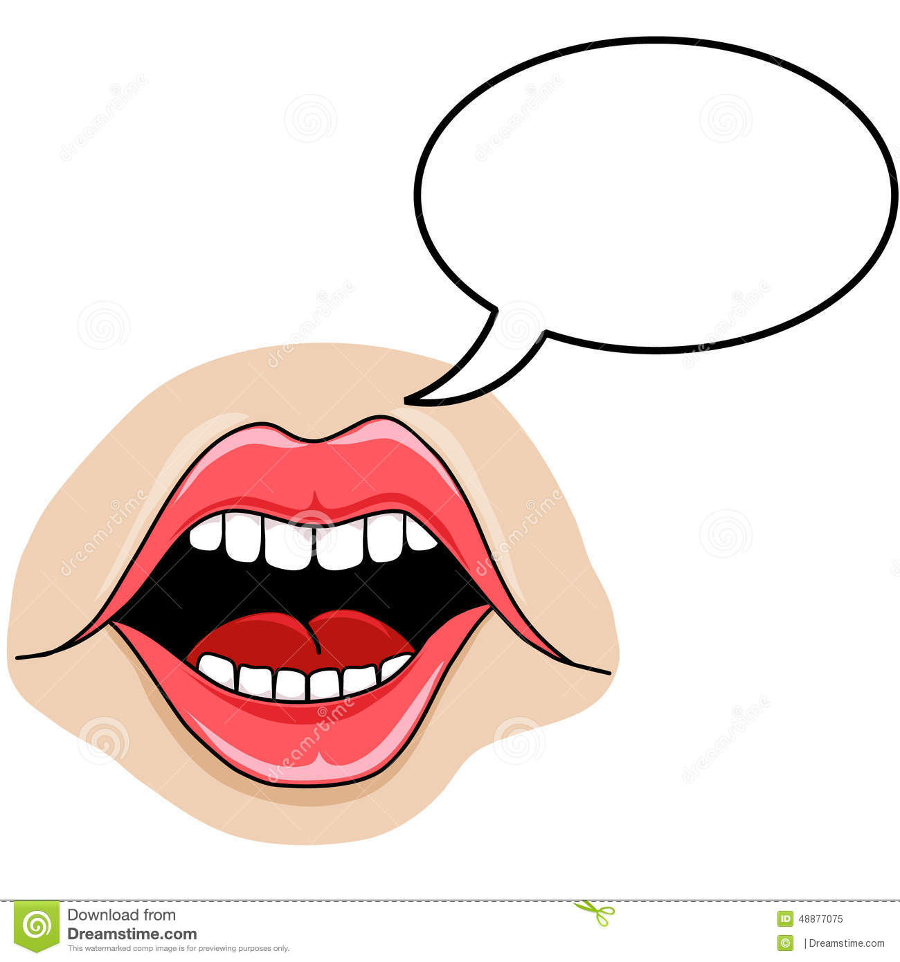 Speaking Mouth Stock Illustrations.
