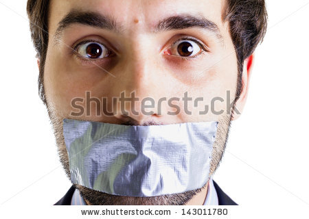 Duct Tape Mouth Stock Images, Royalty.